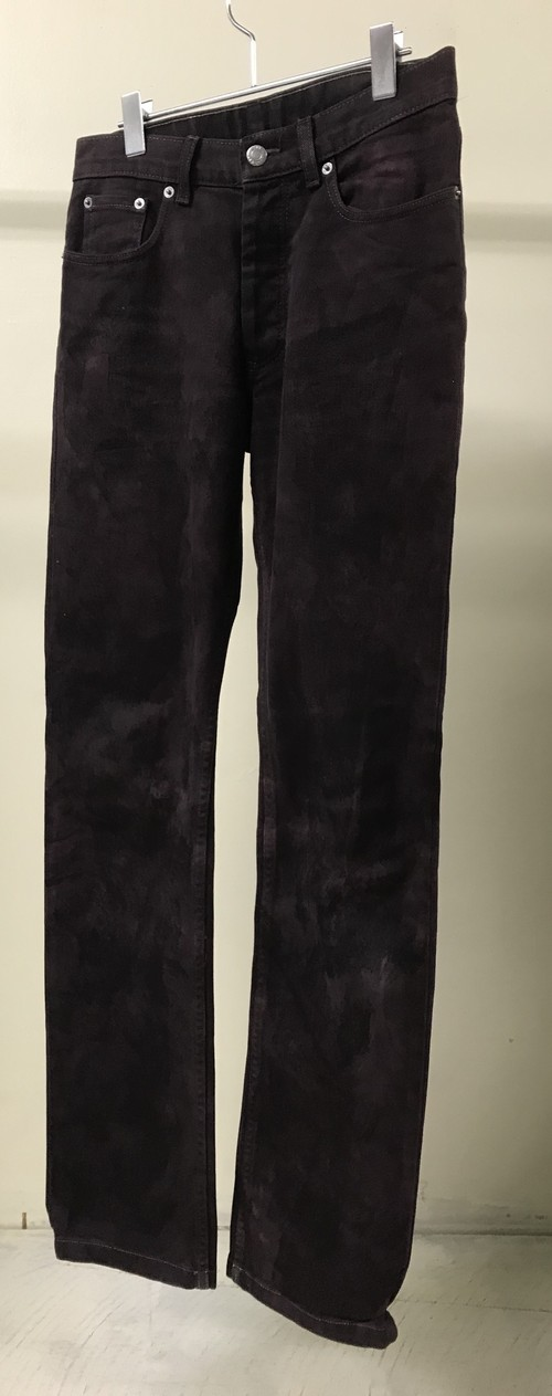 2000s HELMUT LANG OVERDYED DENIM PANTS