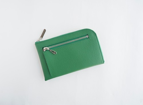 薄くて軽いコンパクトな財布 10枚カードポケット カラフルグリーン スクイーズ