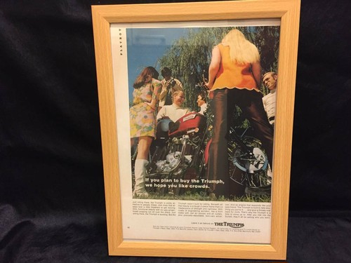 トライアンフ 1960年代 PLAYBOY 雑誌広告 新品額付き