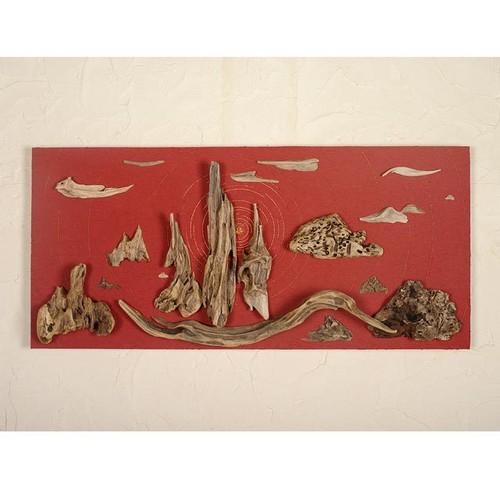 流木で描く山水画(L saiz) #14