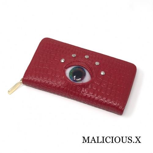 eye  wallet / marble(crocodile)red