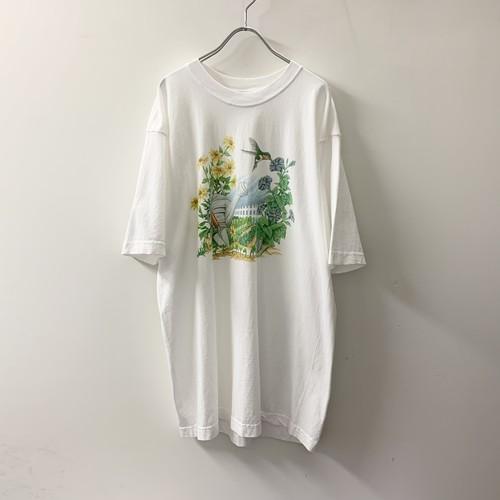 プリントTシャツ ホワイト size XL メンズ 古着