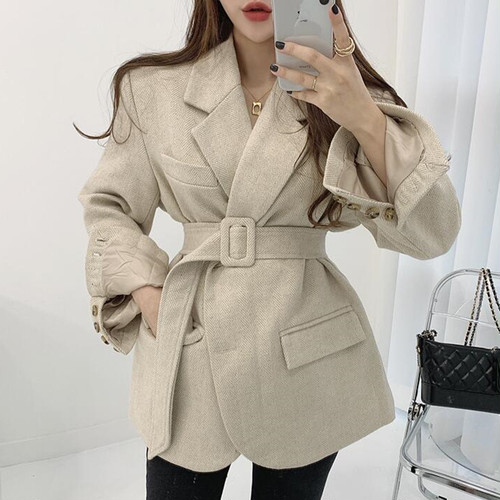 2色 chic ウールジャケット c2009
