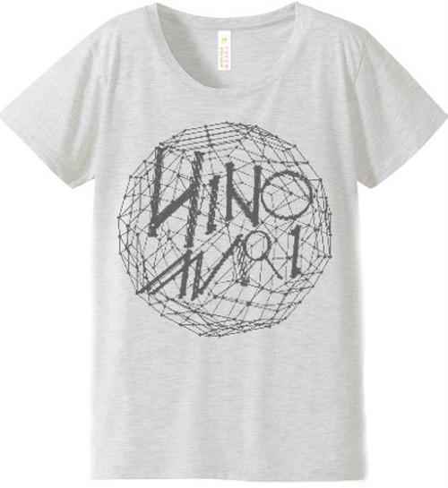日の毬 Tシャツ M ホワイトグレー