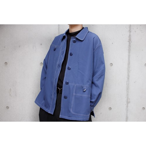 blue stiching shirts jacket
