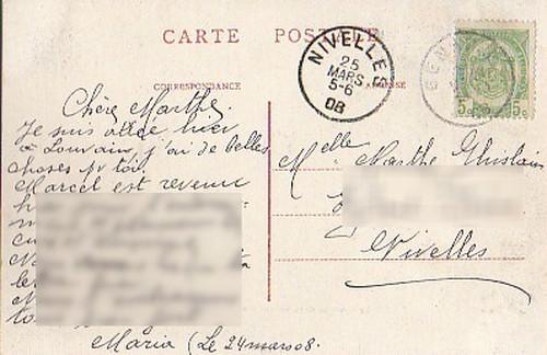 古絵葉書エンタイア「フォンテーヌ」(1908年)