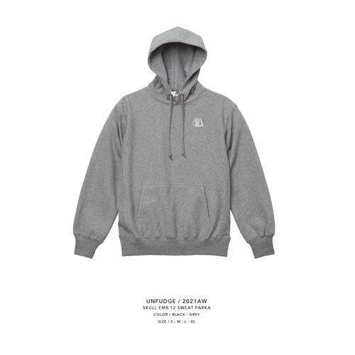 unfudge SWEAT PARKA / SKULLHEAD / GREY(予約商品)