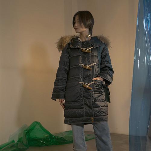 ウィンターファーカラージャケット ロングコート 冬物 ILIAD1292995