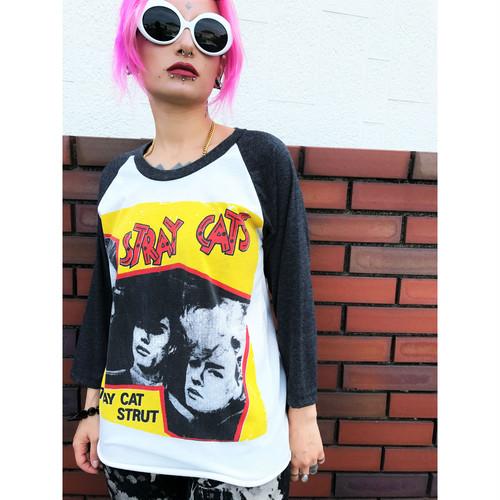 ストレイ・キャッツ(Stray Cats)ラグランスリーブTシャツ sizeM ホワイト
