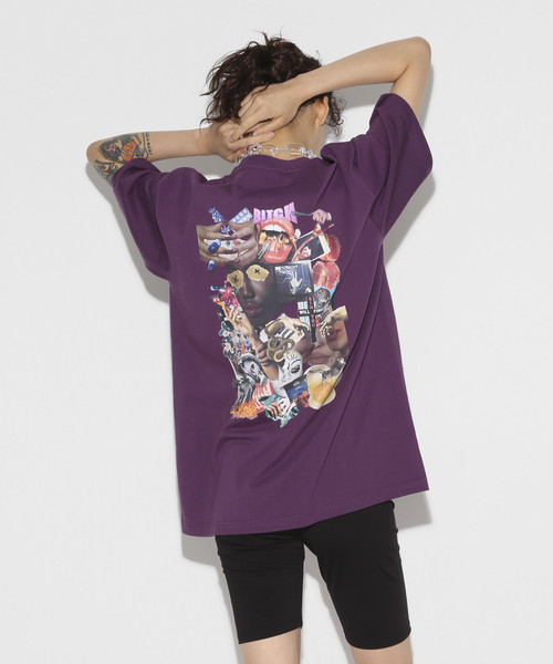 9th anniversary Special Graphic Collage T-shirt [Purple]