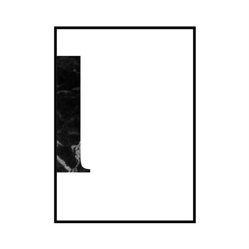 """l"" 黒大理石 - Black marble - ALPHAシリーズ [SD-000539] A4サイズ ポスター単品"
