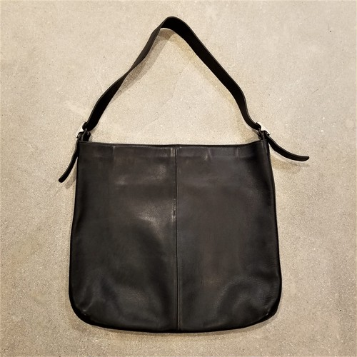 Old COACH leather shoulder bag / Made in USA[B-116]