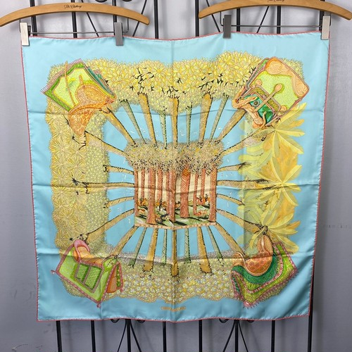 HERMES CARRE90 SILK100% SCARF OMBRES ET LUMIERES MADE IN FRANCE/エルメスカレ90シルク100%スカーフ(影と光)