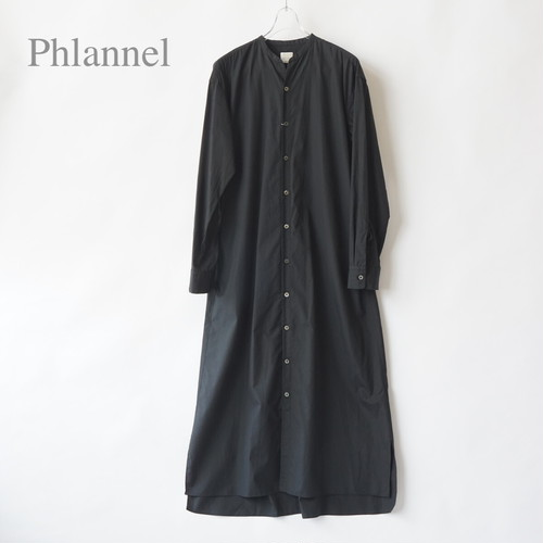PHLANNEL SOL/フランネルソル・Stand Collar Shirt Dress
