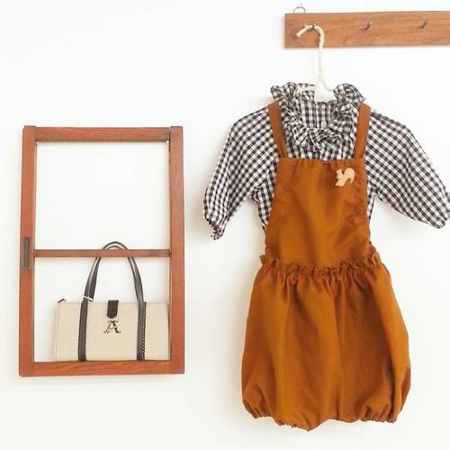 かぼちゃサロペット(3年着られる子供服)