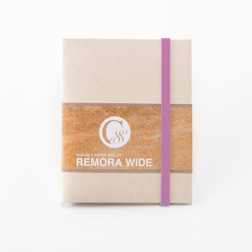 "Durable Paper Wallet ""REMORA Wide"" / Ivory&Pink"