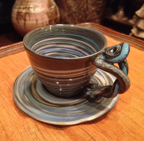 カップ&ソーサー blue