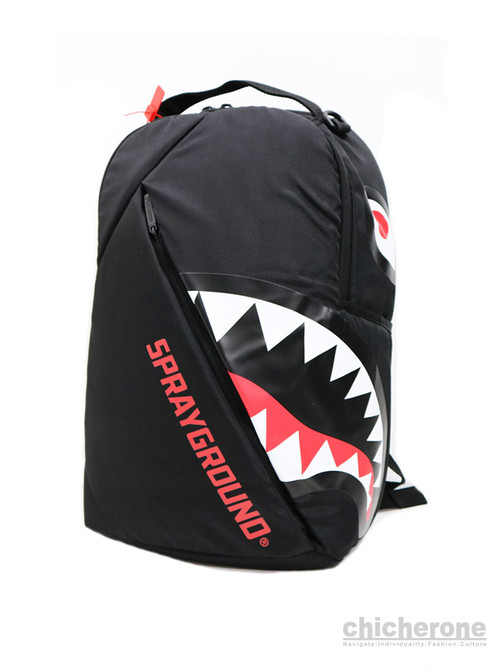 【SPRAY GROUND】ANGLED GHOST SHARK BACKPACK  BLACK