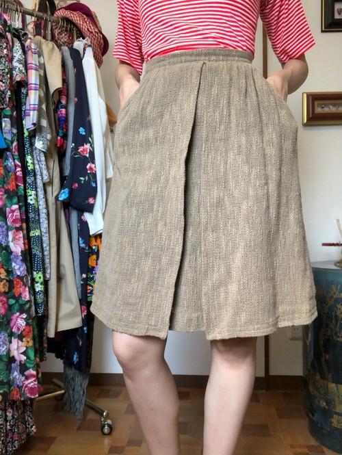 cotton fake wrap skirt