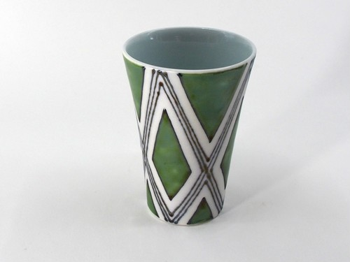 緑菱角紋 ゴブレット