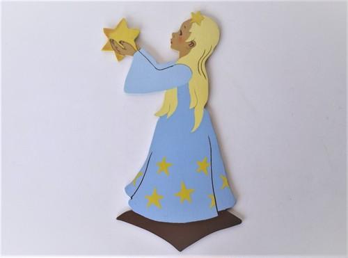 星に願いを 旧西ドイツ メルテンス クンスト Mertensーkunst 壁飾り板絵