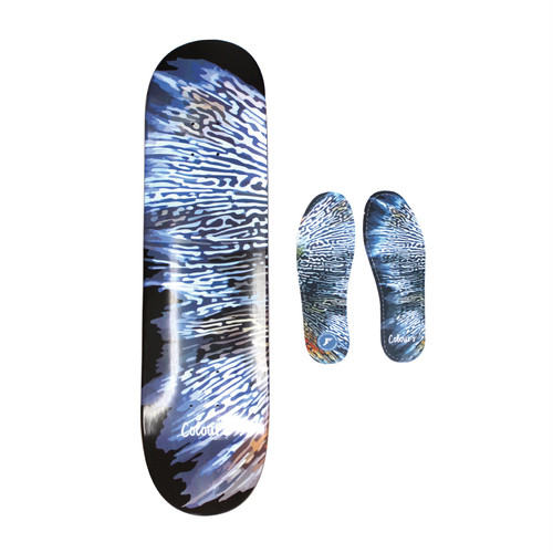 COLOURS COLLECTIV FISH CAMO 8INCH ※FP INSOLE COLOURS COLLECTIV CAMO 5mm サイズ10付き