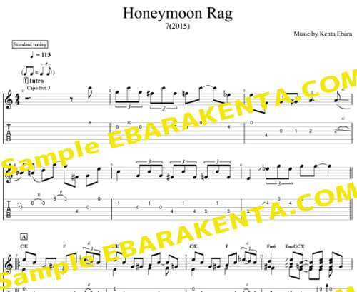 「Honeymoon Rag」TAB譜