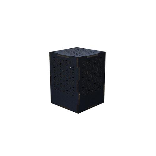 ミニ行灯 麻の葉 - 置き型照明 Sサイズ ブラック
