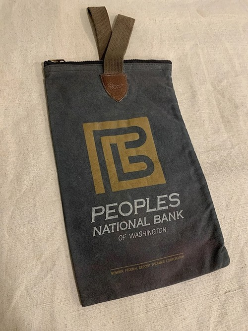"BANK BAG "" PEOPLES NATIONAL BANK """