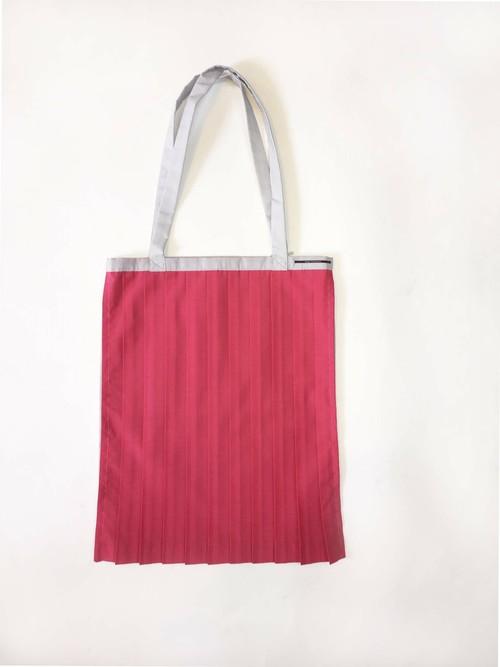 PLEATS TOTE BAG / PINK x Light Gray [size:F]