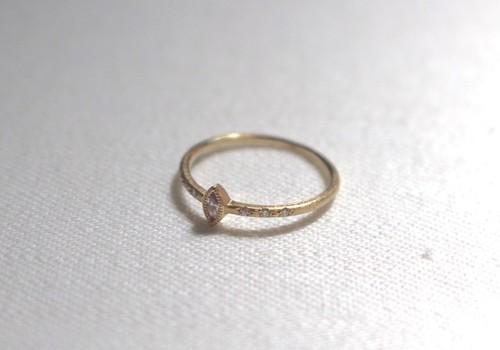 ピンクダイヤのK14リング(Gold)