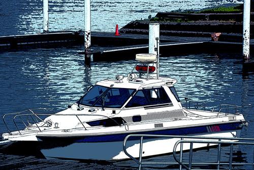 水上警察ボートイラスト