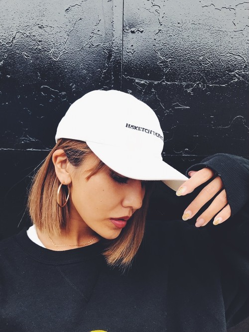 H/SKETCHY/ONETOUCH CAP WHT *数量限定*