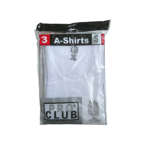 PRO CLUB - A-SHIRTS TANK TOP (White) 3PAIR