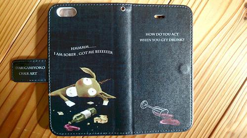 チョークアートの酔っ払いロバ iPhone手帳型ケース iPhone6/6Sケース