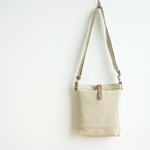 CANVAS SHOULDER S / GRAY BEIGE