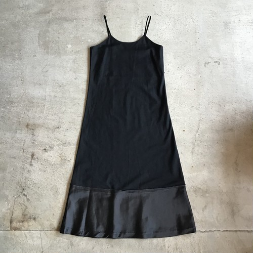 COMME des GARCONS黒切り替えロングワンピ