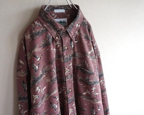 1990's [MOUNTAIN TEK] ハンティング柄 コットンボタンダウンシャツ 表記(XL)