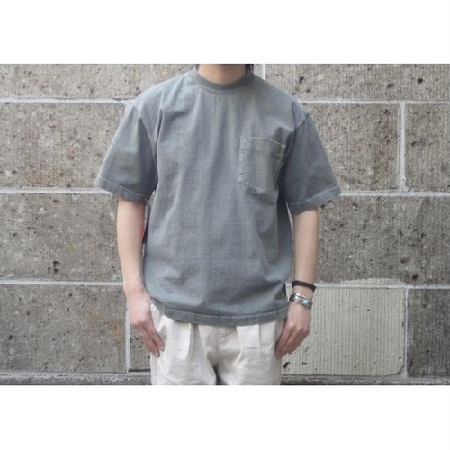 CAMBER (キャンバー) 8oz MAX WEIGHT POCKET T-SHIRT PIGMENT DYE オリーブ