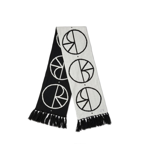 POLAR SKATE CO / STROKE LOGO SCARF -BLACK-