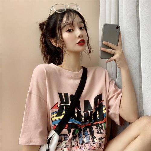 【トップス】春服韓国風insゆったり原宿風bf快適なTシャツ