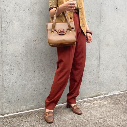 (LOOK) wool tuck pants