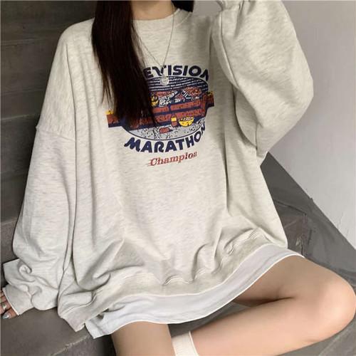 レトロイラストセーター U4465