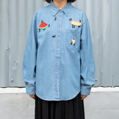 """""""Ant"""" Embroidered Shirt"""