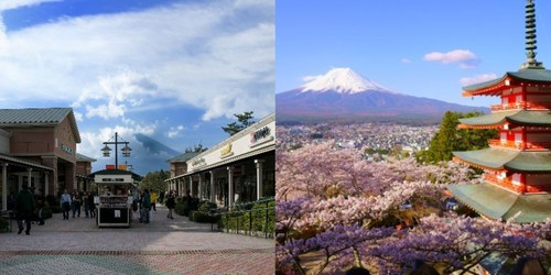 Mt. Fuji and Gotemba Outlet Shopping Private 1 Day Tour  (Chartered van for 1 guest up to 8 guests)