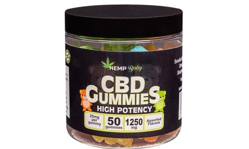 CBD高濃度グミ HEMP BABY 1250mg(1粒25mg × 50個)