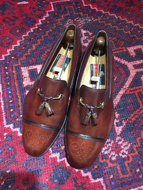.a.testoni LEATHER TUSSEL LOAFER MADE IN ITALY/テストーニレザータッセルローファー 2000000042343