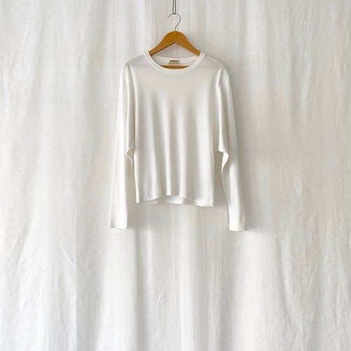 HERMES cotton L/S T shirt white