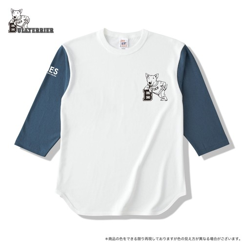 ブルテリア ベースボールTシャツ ナチュラルxデニム