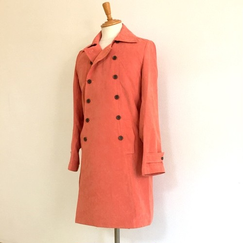 P-Suede Double Breast Coat Orange
